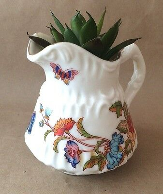 Gorgeous little Vintage Butterfly Jug with Artificial Succulent