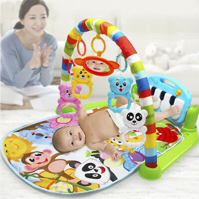 Baby Musical Lay & Play Mat 3 in 1 Fitness Music And Lights Fun Piano Toys  NEW