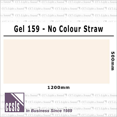 Clear Color 159 Filter Sheet - No Colour Straw