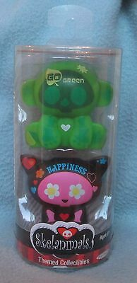 Skelanimals Jakks Pacific Themed Collectibles Go Green & Happiness NEW PACKAGE
