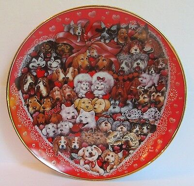 Vintage Franklin Mint Bill Bell Puppies' Love Collector Plate