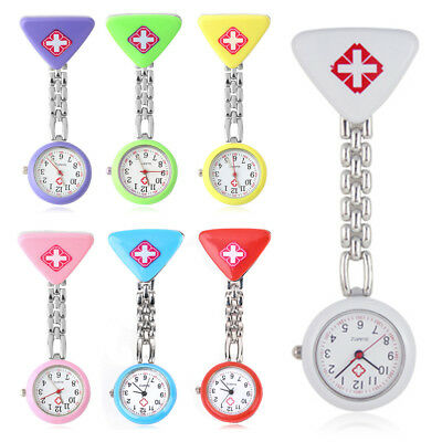 Nurse Watch Montre Gousset Infirmière Silicone Broche Épingle Quartz Tunique