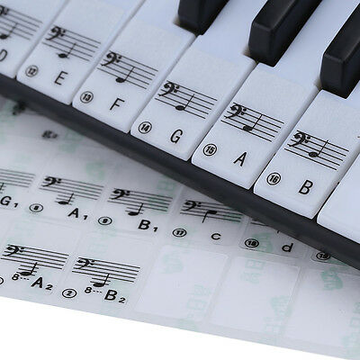 Best Transparent Piano Key Note Keyboard Stickers - Learn Teach to Play Music!