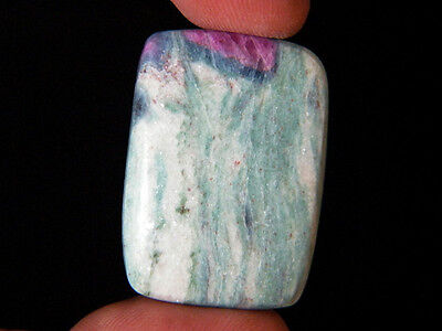 47ct Natural Ruby Fuchsite Cabochon 34x25x5mm, Natural Fuchsite Gemstone AS-5349