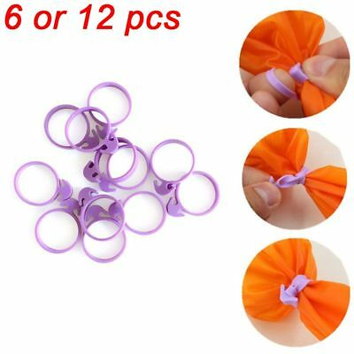6/12 PCS Decorating Silicone Tied Up Icing Bag Sealing Fixed Ring Rubber Band