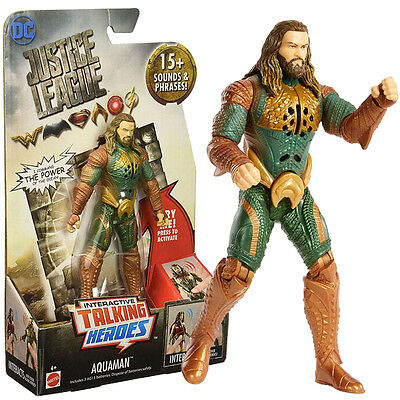 DC Justice League Interactive Talking Heroes Aquaman 6'' Action Figure Toy