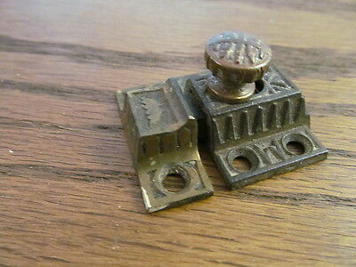 Antique Victorian Ornate Cast Iron Eastlake Cabinet Cupboard Latch Lock Vintage