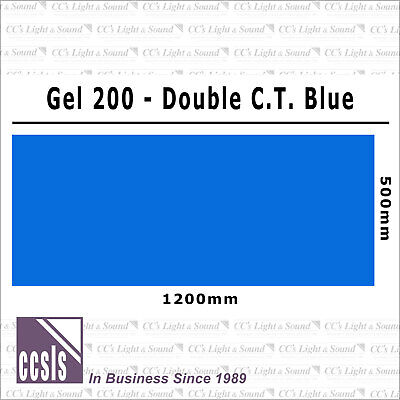 Clear Color 200 Filter Sheet - Double CT Blue