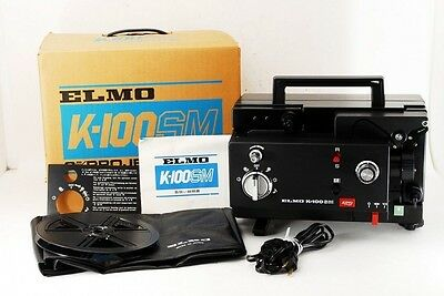 ELMO K-100 SM 8mm Adjustable Speed Movie Projector Projector SERVICED
