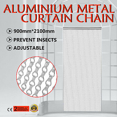 Aluminium Fly Pest Door Screen Room divider Silver color Insect Control Curtain