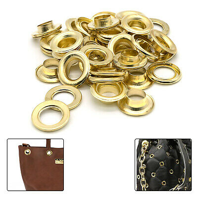 Gold Brass Eyelets Grommet Washer Rust Proof Vinyl Banner Tarpaulin Crafting 100