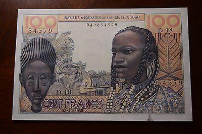 1964 French West Africa , 100 Francs