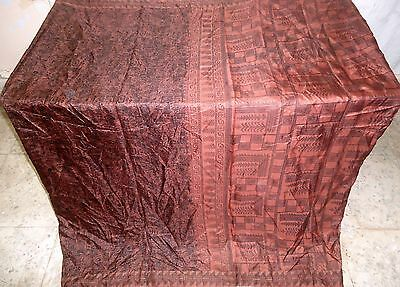 Pure silk Antique Vintage Sari Saree Fabric REUSE 4y Bu 1314 Coffee Black #ABK1W