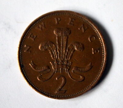 rare 1981 2 NEW Pence Coin Circulated ref:8674/5