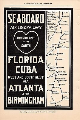 1906 Seaboard Air Line Railway Ad-Heart Of The South