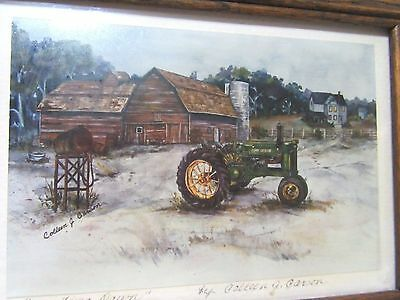 John Deere Model A Tractor Picture ~ Awaiting Dawn By Calleen G. Carson