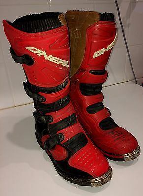 Mini bike dirt motorbike Oneal size US 9 protective riding boots