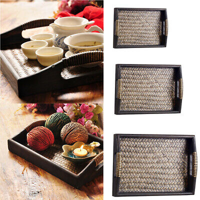 Portable Wooden Food Serving Breakfast in Bed Lap Tray with Handles 3 Sizes