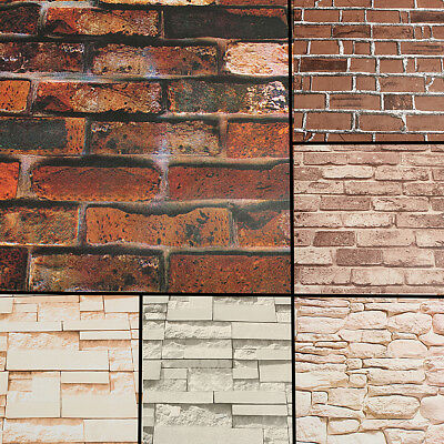 45cm*10m 3D Wallpaper Brick Pattern Self-adhesive Waterproof Wall Paper Decor
