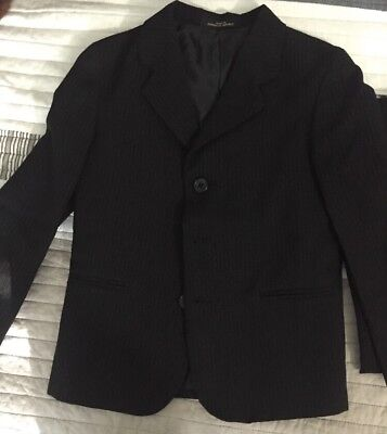 Boys Black Pinstripe Suit- Size 5