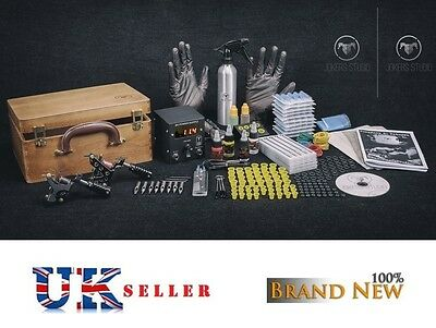 UK Price drop Tattoo Kit Sets full Power supply professional MACHINE Top USA INK