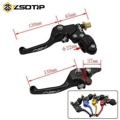 Aluminum ASV F3 Series Short Clutch Brake Folding Lever Fit Motor ATV Dirt Bike