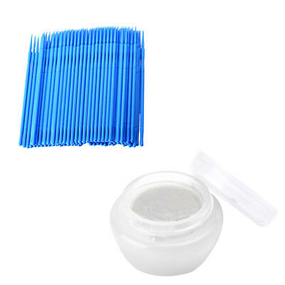 False Individual Eyelash Extension Glue Remover Cream + 100 Disposable Swabs