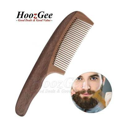 Pocket Gents Mens Moustache Beard Combs Amoora Pearwood Wooden Handle Hair Comb