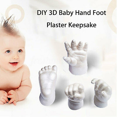 3D Plaster Handprint Footprint Baby Mould Hand Foot Casting Prints Kit Cast Gift