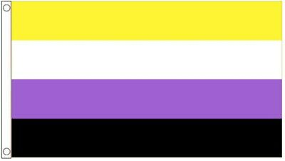 Non-Binary Genderqueer (GQ)  Pride 5'x3' Flag