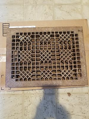 Antique Cast Iron  Architectural salvage Heat Grate Vent Register Victorian