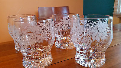 Four Crystal Whiskey Glasses