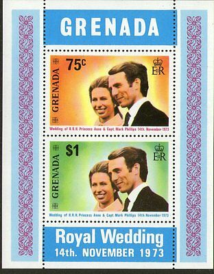 Grenada, 1973 Royal Wedding Minisheet Mnh