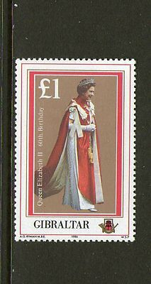 Gibraltar, 1986 Queens B/day 1 Mnh