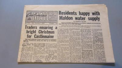 1977 Wednesday December the 7th. Castlemaine Mail Published 3 Evenings a Week.