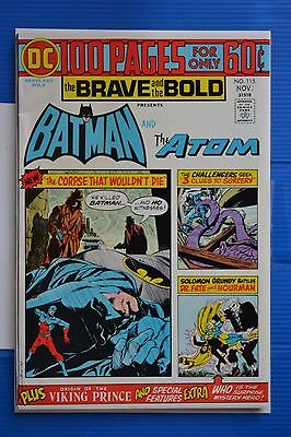 The Brave And The Bold # 115: Very Fine+: Dc Comics :nov 1974 : {Comic Books}