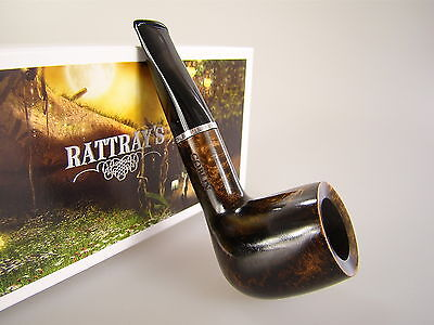 Rattray's Pipe Pfeife Goblin Dunkelbraun Poliert Shape 100 9mm Filter #412