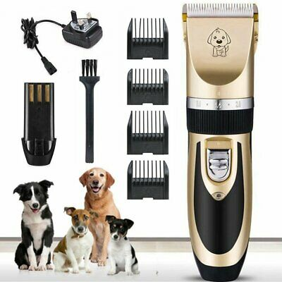 Low Noise Cordless Pet Dogs Cats Electric Clippers Hair Grooming Trimming Kit
