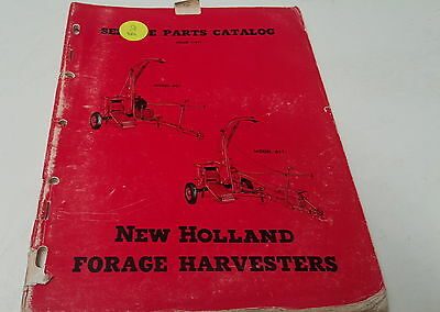 1957  NEW HOLLAND FORAGE HARVESTERS  Parts Book