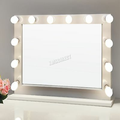 FoxHunter Makeup Mirror LED 12 Bulbs Light Cosmetic Beauty Vanity LMM02 White