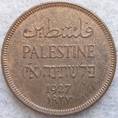 "1927 Palestine 1 Mil Uncirculated Beautiful ""Woody"""