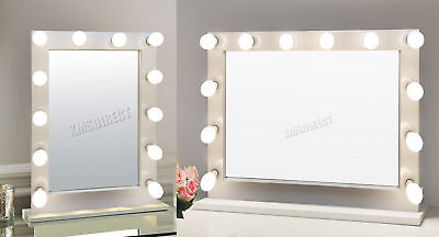 FoxHunter Makeup Mirror LED 12 Bulbs Dimmer Light Cosmetic Beauty Vanity White