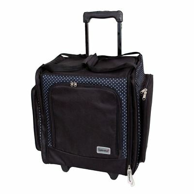 DoCrafts Papermania PMA934103 - Wheelable Craft Tote Black - Liquorice Dot