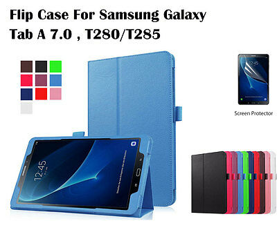 Screen Protector/Flip Leather cover case for Samsung Galaxy Tab A 7.0
