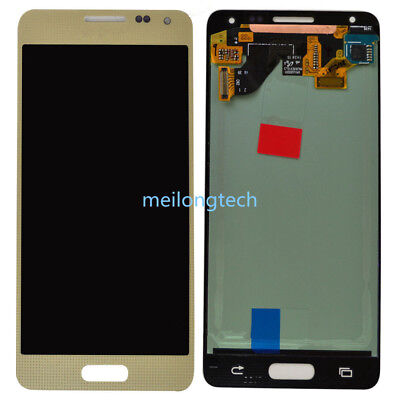 For Samsung Galaxy Alpha SM-G850F lcd display touch screen Digitizer gold+cover