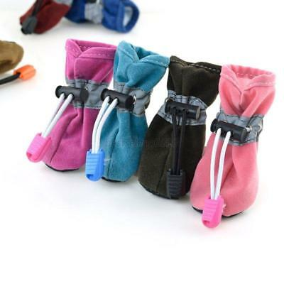 US Winter Warm Small Pet Dogs Shoes Puppy Anti-slip Boots Protective Sneakers