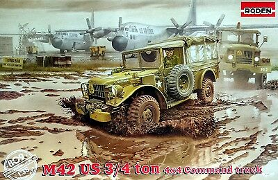 RD809  1/35 RODEN  M42 US ¾ ton 4x4 command truck