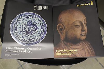 2 Catalogs Bonhams Fine Chinese Ceramics and Works of Art and Fine Chinese Art