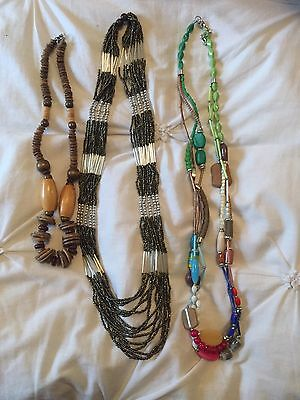 Costume Jewellery Necklaces From Monsoon And Markets