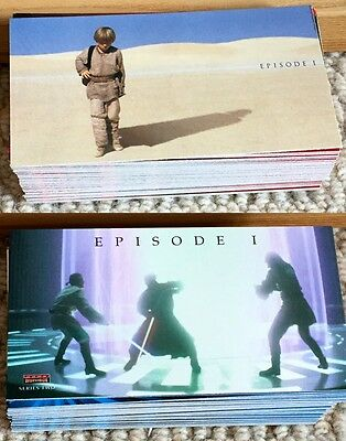 TOPPS STAR WARS: EPISODE I THE PHANTOM MENACE WIDEVISION CARDS 2x SETS wrappers